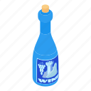 bar, bottle, cartoon, drink, holiday, liquid, wine icon