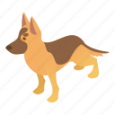 animal, cartoon, dog, graphic, pet, puppy, shepherd icon
