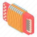 accordion, art, cartoon, instrument, modern, music, musical icon