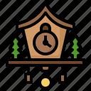 clock, adornment, decoration, ornament, cuckoo, time