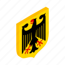 coat, country, eagle, german, germany, isometric, official icon