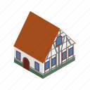 architecture, germany, house, isometric, old, wall, wood icon
