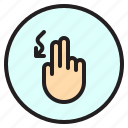 creen, curve, finger, gesture, mobile icon