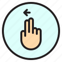 creen, finger, gesture, left, mobile icon