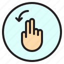 creen, finger, gesture, left, mobile, rotate icon