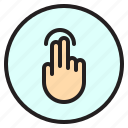 creen, finger, gesture, mobile, tab icon