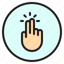1, creen, finger, gesture, mobile, tab icon