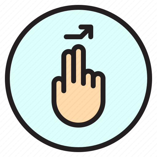creen, finger, gesture, mobile, right, tab icon