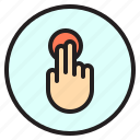 creen, finger, gesture, mobile, touch icon
