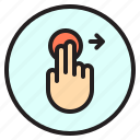 creen, finger, gesture, mobile, right, touch icon