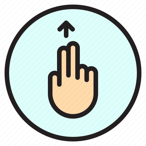 creen, finger, gesture, mobile, up icon