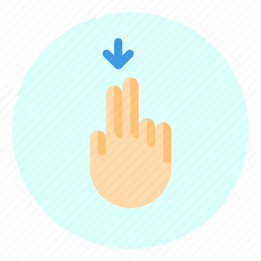 creen, down, finger, gesture, mobile icon