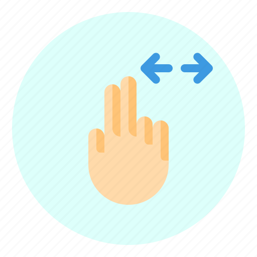 creen, finger, gesture, horizontal, mobile icon