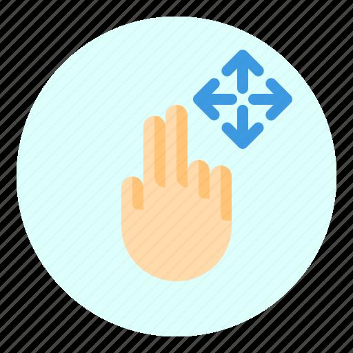 creen, finger, gesture, mobile, move icon