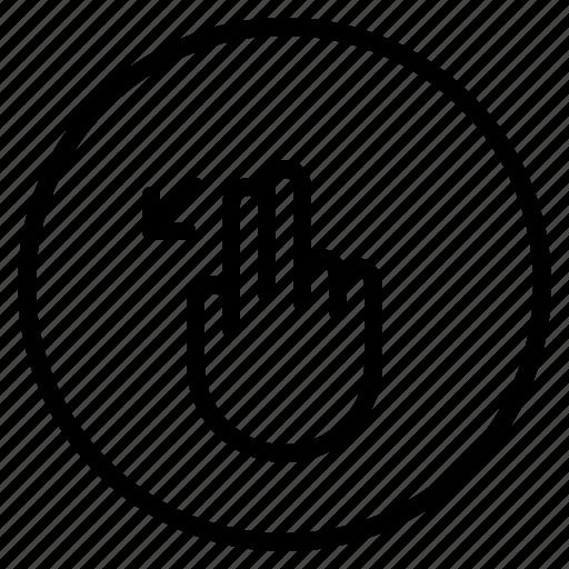 down, left, mobile, screen, slant icon