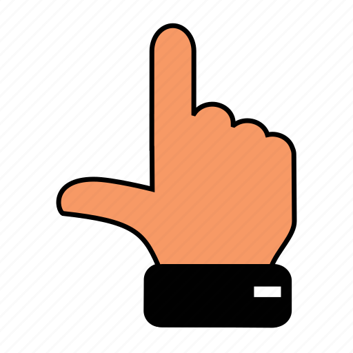 finger, gesture, hand, one icon
