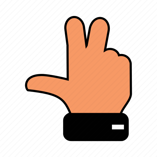 finger, gesture, hand, middle, o, peacehand icon