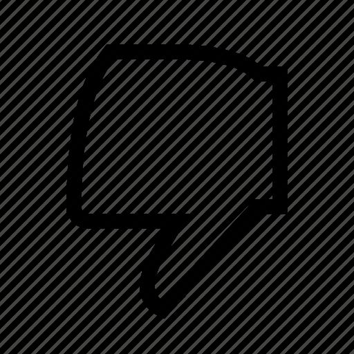Dislike, finger, fingers, gesture, hand icon - Download on Iconfinder