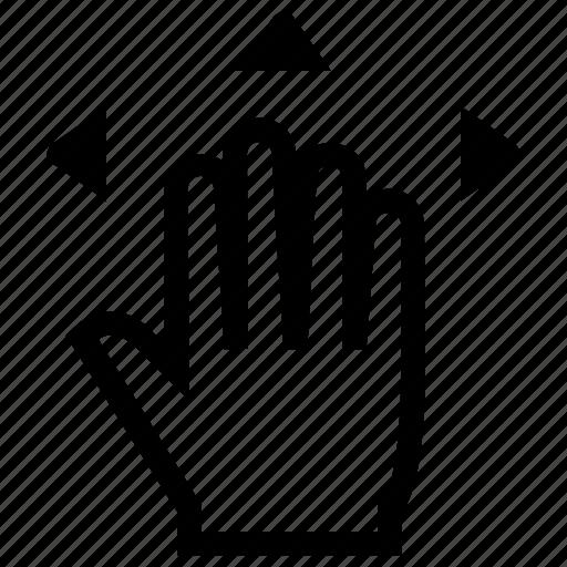 drag, finger, fingers, gesture, hand icon