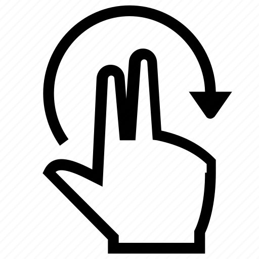 finger, fingers, gesture, hand, rotate icon