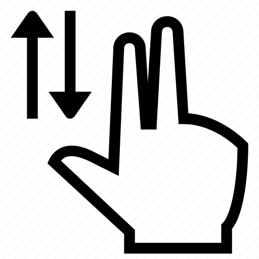 finger, fingers, gesture, hand, swipe icon