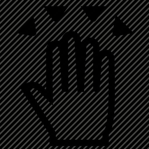 Finger, fingers, gesture, hand, swipe icon - Download on Iconfinder
