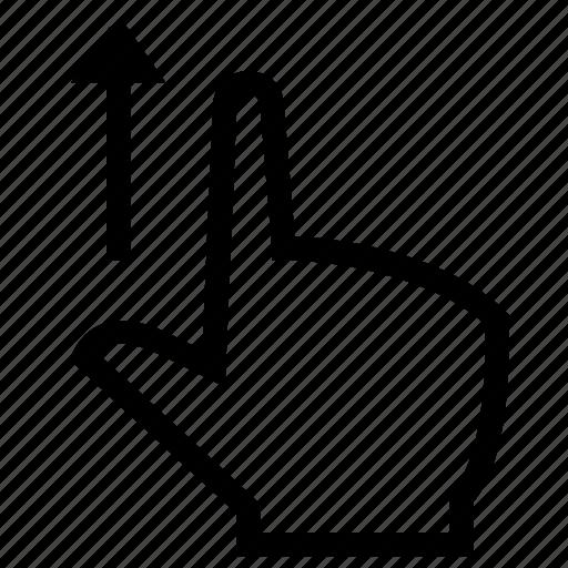 finger, forefinger, gesture, hand, swipe icon
