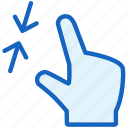 gestures, resize, small icon