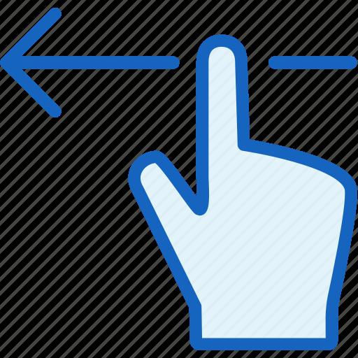 finger, gestures, left icon