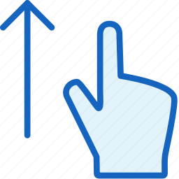 finger, gestures, up icon