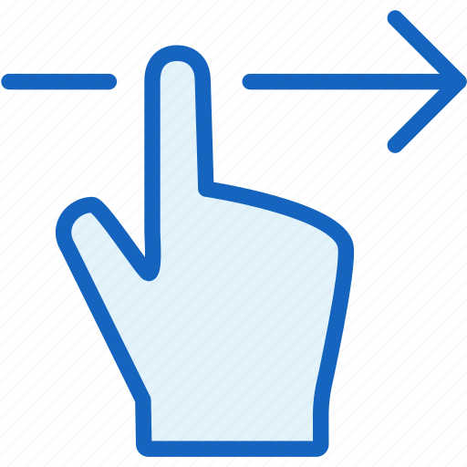 finger, gestures, right icon