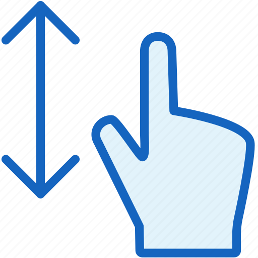 down, finger, gestures, up icon
