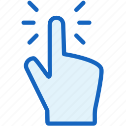 gestures, tap icon
