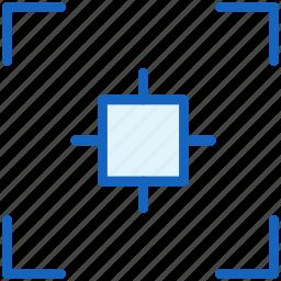 camera, center, gestures icon