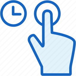 finger, gestures, wait icon