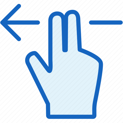 fingers, gestures, left icon