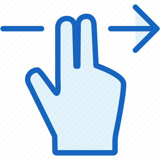 fingers, gestures, right icon