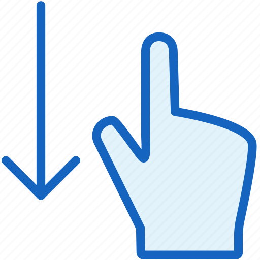 down, finger, gestures icon