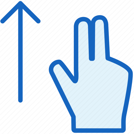 fingers, gestures, up icon