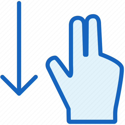 down, fingers, gestures icon