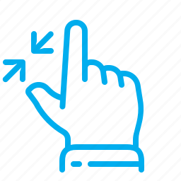 contract, gestures, interface, pinch, touch, touchscreen, zoom out icon