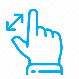 expand, gestures, interface, magnification, touch, touchscreen, zoom in icon