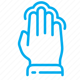 fingers, four, gestures, interface, multiple tap, tap, touchscreen icon