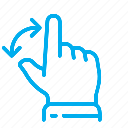 arrows, gestures, hand, interface, rotate, touch, touchscreen icon