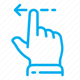 finger, gestures, left, slide, swipe, touch, touchscreen icon