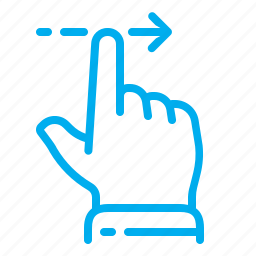 finger, gestures, right, slide, swipe, touch, touchscreen icon