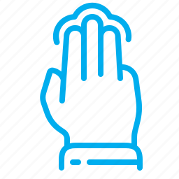 fingers, gestures, hand, interface, multiple touch, tap, touch icon