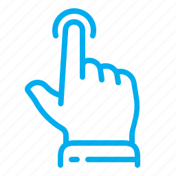 finger, gestures, hand, interface, tap, touch, touchscreen icon