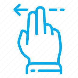 arrow, fingers, gestures, interface, left, slide, touchscreen icon