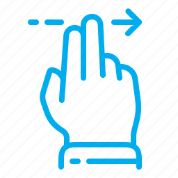 arrow, fingers, gestures, interface, right, slide, touch screen icon
